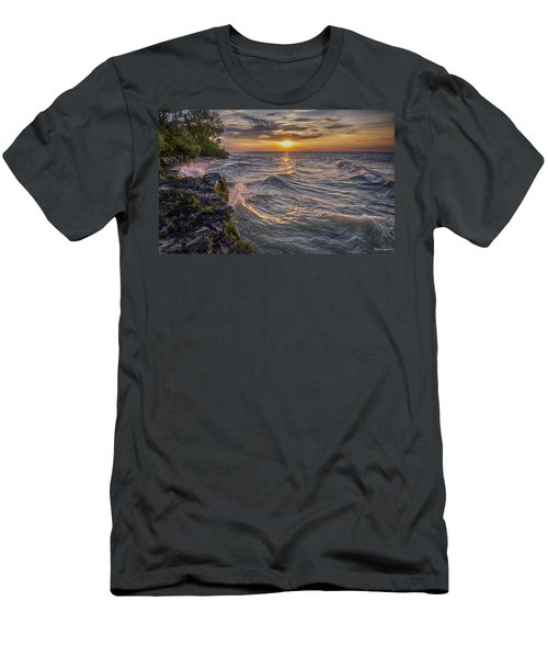 Kelleys Island At Sunset Men's T-Shirt (Athletic Fit)