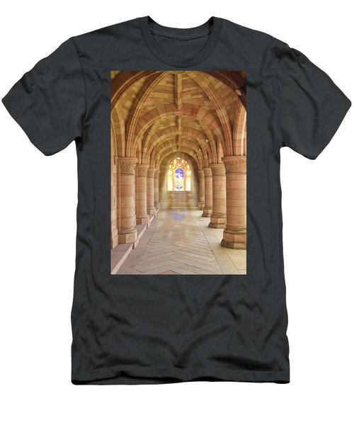 Kelso Abbey Stained Glass Men's T-Shirt (Athletic Fit)