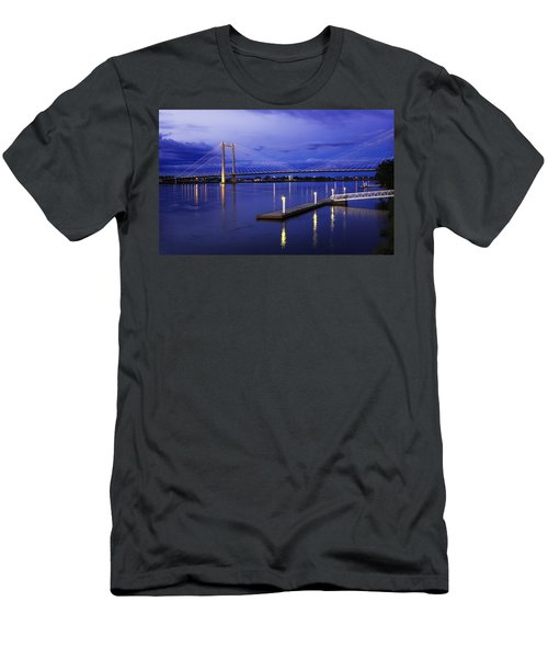 Men's T-Shirt (Slim Fit) featuring the photograph Kennewick Bridge 2 by Sonya Lang