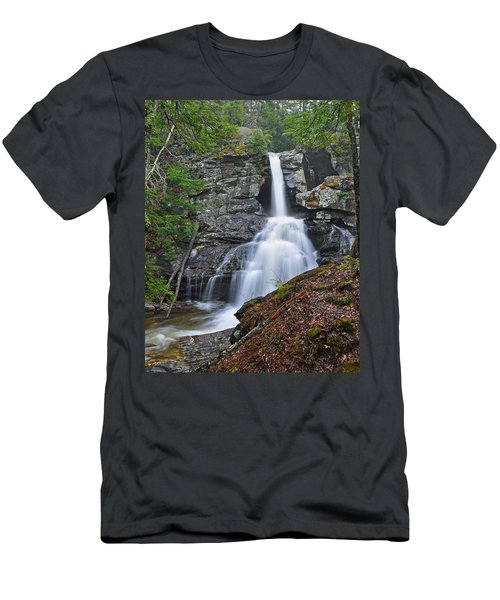Kent Falls State Park Ct Waterfall Men's T-Shirt (Athletic Fit)