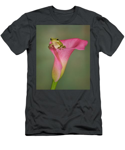 Kermit Peeking Out Men's T-Shirt (Athletic Fit)