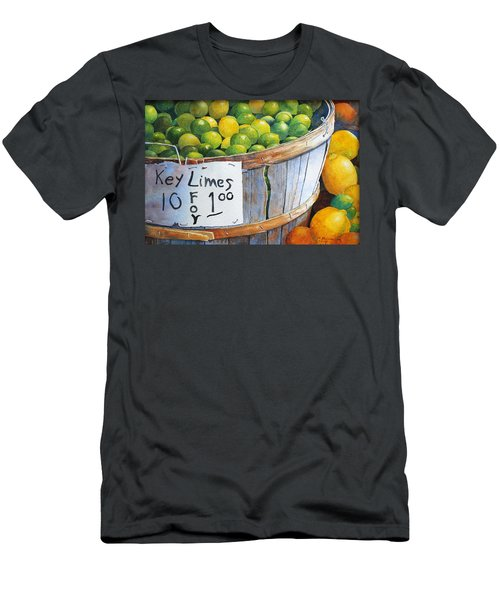 Key Limes Ten For A Dollar Men's T-Shirt (Athletic Fit)