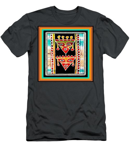 Men's T-Shirt (Slim Fit) featuring the digital art King And Queen by Vagabond Folk Art - Virginia Vivier