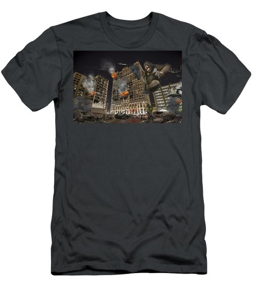 Men's T-Shirt (Slim Fit) featuring the photograph King Kong In Detroit Westin Hotel by Nicholas  Grunas