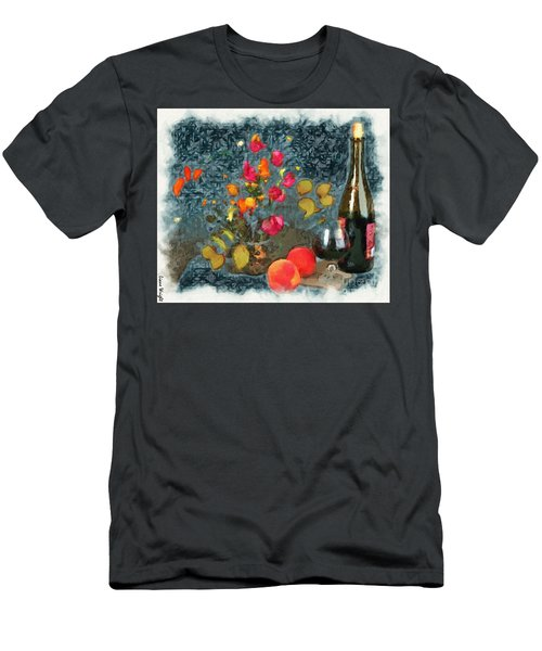 Kitchen - Peaches And Wine Painting  Men's T-Shirt (Athletic Fit)