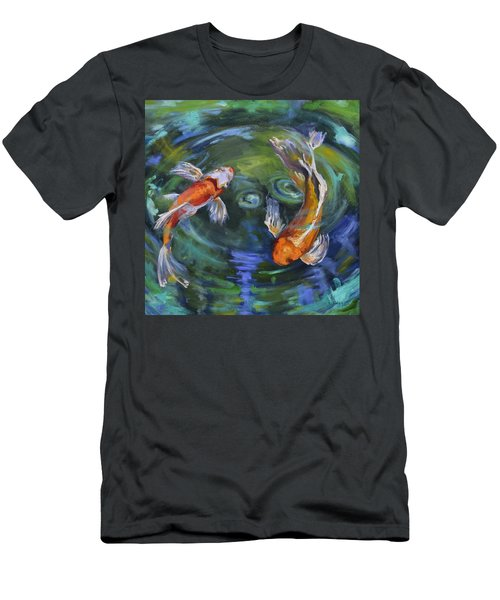 Koi Swirl Men's T-Shirt (Athletic Fit)