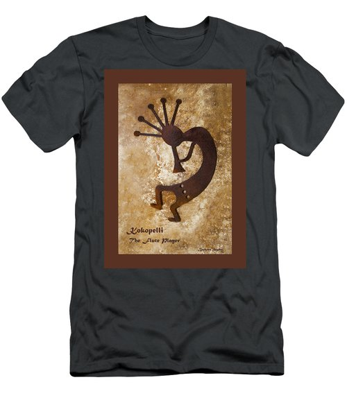 Kokopelli The Flute Player Duvet Men's T-Shirt (Athletic Fit)