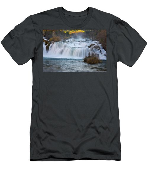 Krka Waterfalls Men's T-Shirt (Athletic Fit)