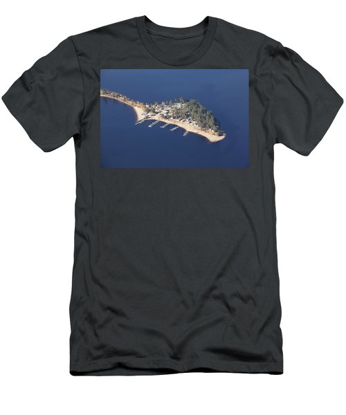 La Pointe A David Men's T-Shirt (Slim Fit) by Eunice Gibb