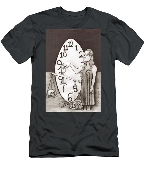 Lady Justice And The Handless Clock Men's T-Shirt (Athletic Fit)