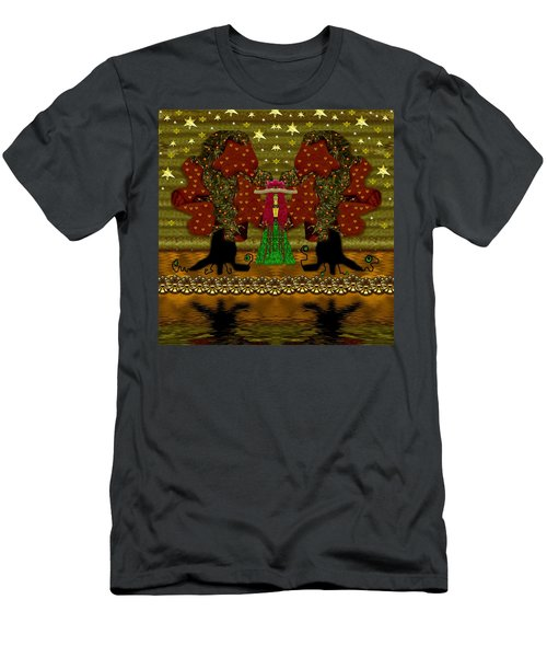 Lady Panda In The Breadfruit Forest Men's T-Shirt (Athletic Fit)