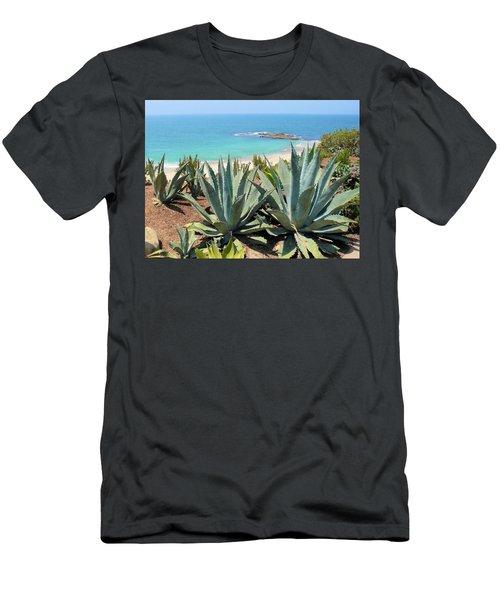 Laguna Coast With Cactus Men's T-Shirt (Athletic Fit)
