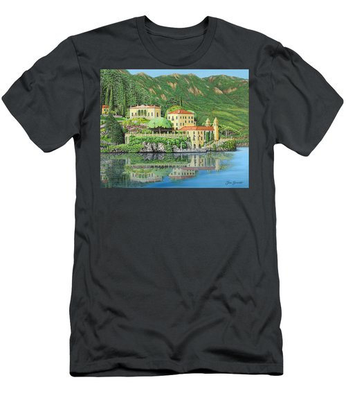 Lake Como Morning Men's T-Shirt (Athletic Fit)