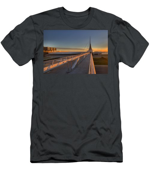 Lake Front View Men's T-Shirt (Athletic Fit)