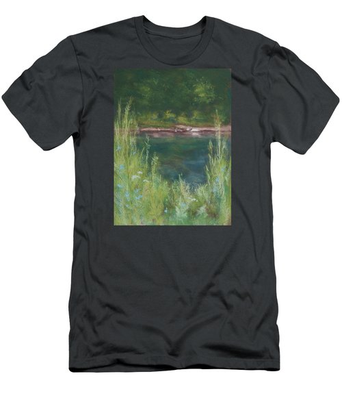 Lake Medina Men's T-Shirt (Slim Fit) by Lee Beuther