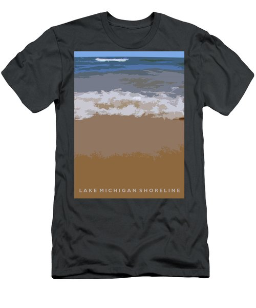 Lake Michigan Shoreline Men's T-Shirt (Athletic Fit)