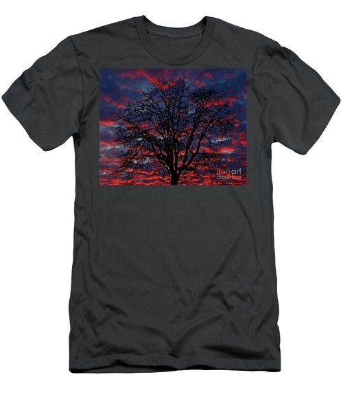 Men's T-Shirt (Slim Fit) featuring the photograph Lake Oswego Sunset by Nick  Boren