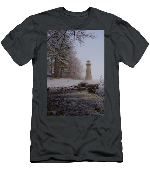 Lake Potanipo Lighthouse Men's T-Shirt (Athletic Fit)