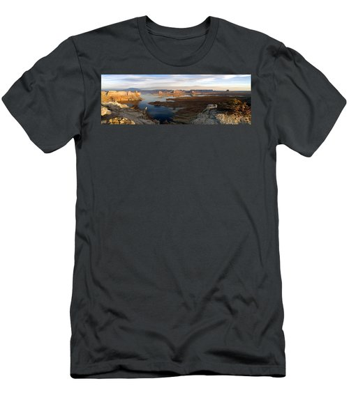 Lake Powell From Alstrum Pt Pan 2 Men's T-Shirt (Slim Fit) by Jeff Brunton