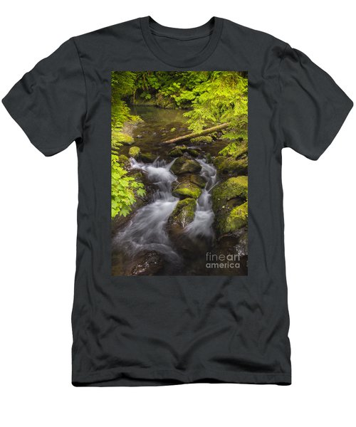 Lake Quinault Creek 2 Men's T-Shirt (Slim Fit) by Sonya Lang