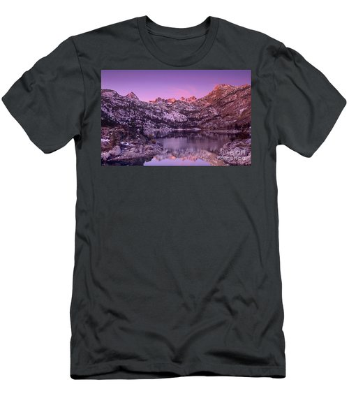 Men's T-Shirt (Slim Fit) featuring the photograph Lake Sabrina Sunrise Eastern Sierras California by Dave Welling