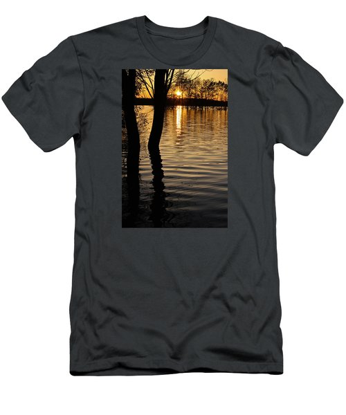 Lake Silhouettes Men's T-Shirt (Slim Fit) by Julie Andel