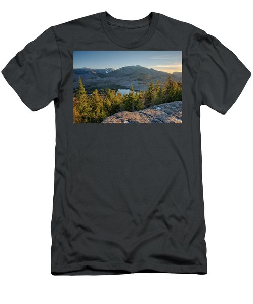 Lake Surrounded By Mountains, Heart Men's T-Shirt (Athletic Fit)