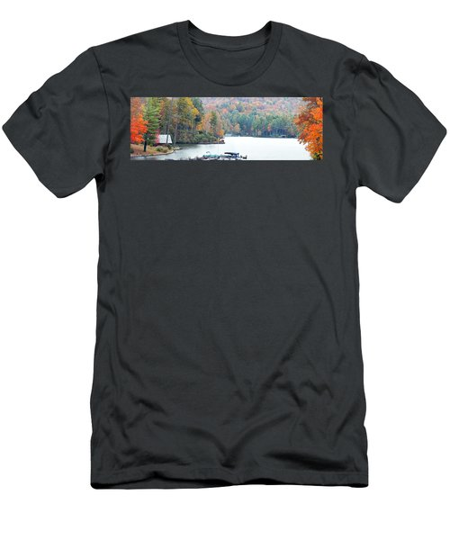 Lake Toxaway In The Fall Men's T-Shirt (Athletic Fit)