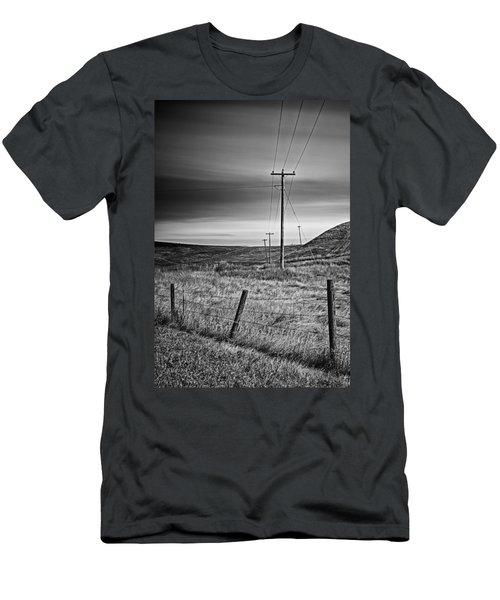 Land Line Men's T-Shirt (Athletic Fit)