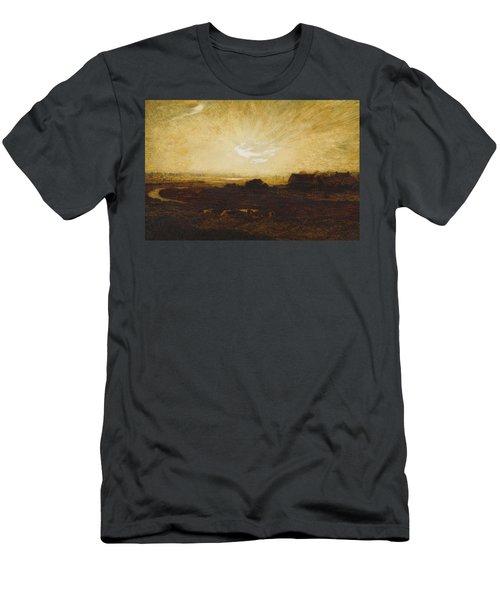 Landscape At Sunset Men's T-Shirt (Athletic Fit)