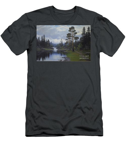 Landscape From Norway Men's T-Shirt (Athletic Fit)