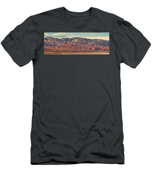 Landscape With Mountain Range Men's T-Shirt (Slim Fit) by Panoramic Images