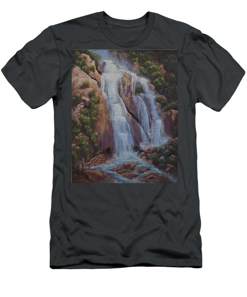 Las Brisas Falls Huatuco Mexico Men's T-Shirt (Athletic Fit)