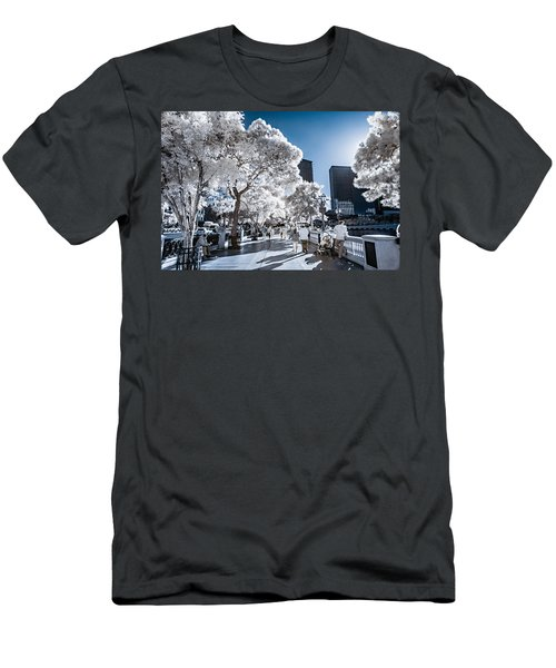 Las Vegas Strip In Infrared 1 Men's T-Shirt (Athletic Fit)