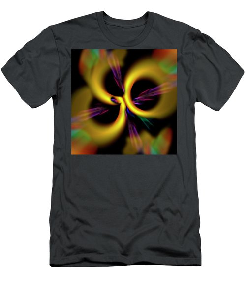 Laser Lights Abstract Men's T-Shirt (Athletic Fit)