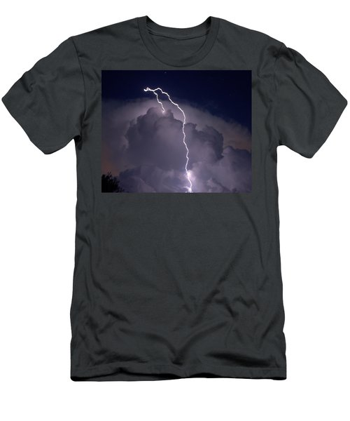 Men's T-Shirt (Slim Fit) featuring the photograph Lashing Out by Charlotte Schafer