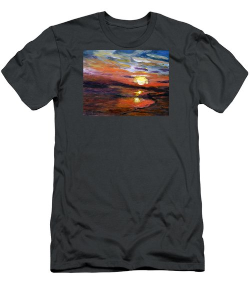 Last Sun Of Day Men's T-Shirt (Slim Fit) by Michael Helfen