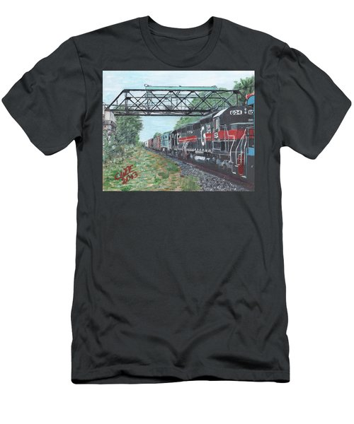 Last Train Under The Bridge Men's T-Shirt (Athletic Fit)