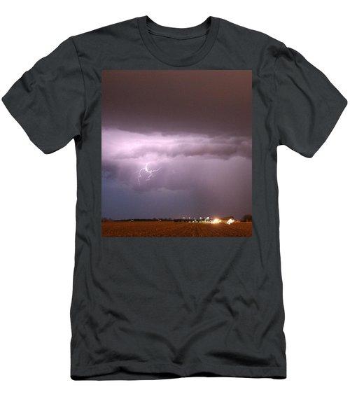 Men's T-Shirt (Athletic Fit) featuring the photograph Late Evening Nebraska Thunderstorm by NebraskaSC