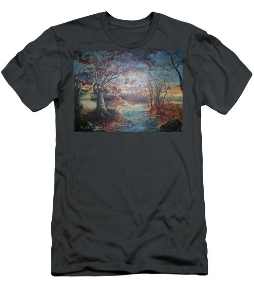 Men's T-Shirt (Slim Fit) featuring the painting Late Fall by Peter Suhocke