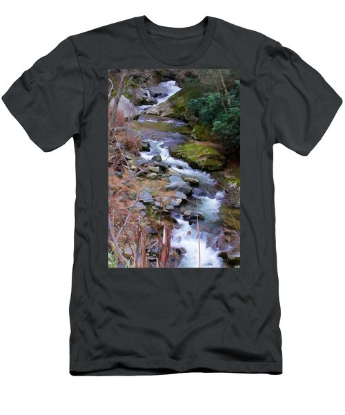 Laurel Creek  Men's T-Shirt (Slim Fit) by Tom Culver