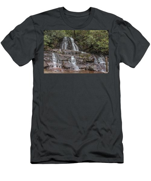 Laurel Falls - Great Smoky Mountains National Park Men's T-Shirt (Athletic Fit)