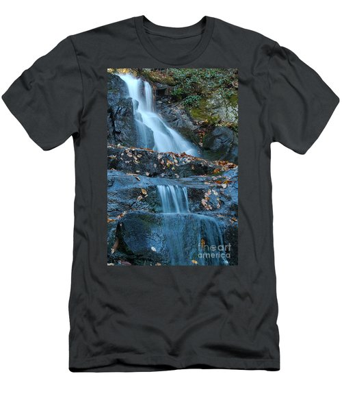 Men's T-Shirt (Slim Fit) featuring the photograph Laurel Falls by Patrick Shupert