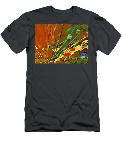 Lava Splash On Venus Abstract Men's T-Shirt (Athletic Fit)
