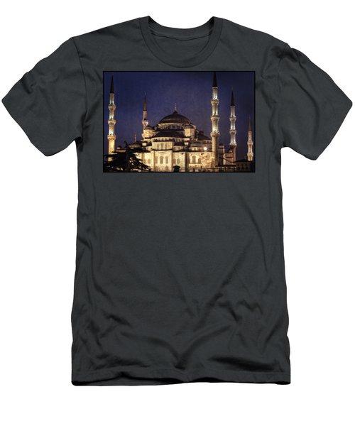 Lavender Brocade Men's T-Shirt (Athletic Fit)