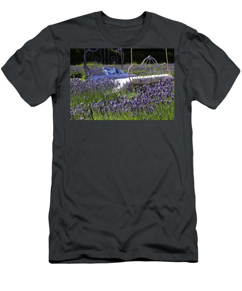 Men's T-Shirt (Slim Fit) featuring the photograph Lavender Dreams by Cheryl Hoyle