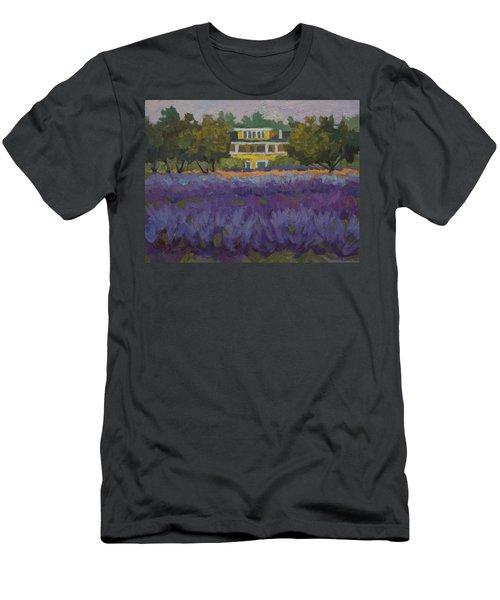 Lavender Farm On Vashon Island Men's T-Shirt (Slim Fit) by Diane McClary