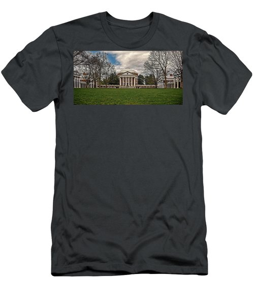 Lawn And Rotunda At University Of Virginia Men's T-Shirt (Athletic Fit)
