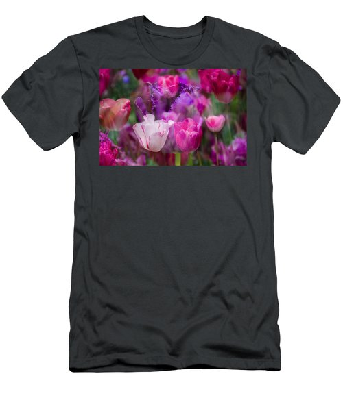 Layers Of Tulips Men's T-Shirt (Athletic Fit)