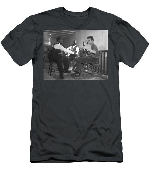 Leadbelly, White, Pete Seeger Men's T-Shirt (Athletic Fit)